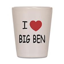 I heart big ben Shot Glass
