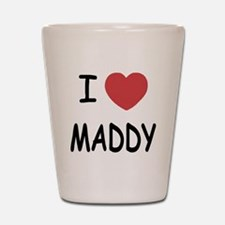 I heart maddy Shot Glass