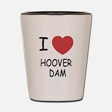 I heart hoover dam Shot Glass