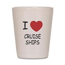 I heart cruise ships Shot Glass