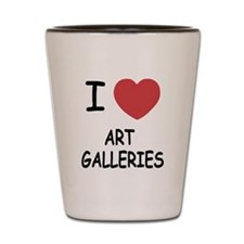 I heart art galleries Shot Glass