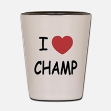 I heart Champ Shot Glass
