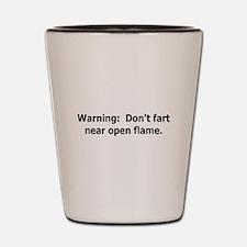 warning don't fart Shot Glass