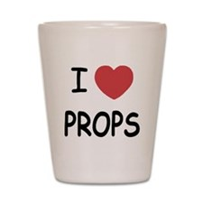 I heart props Shot Glass