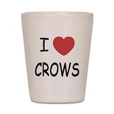 I heart crows Shot Glass
