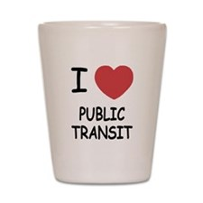 I heart public transit Shot Glass