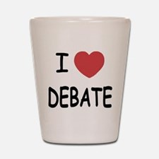 I heart debate Shot Glass