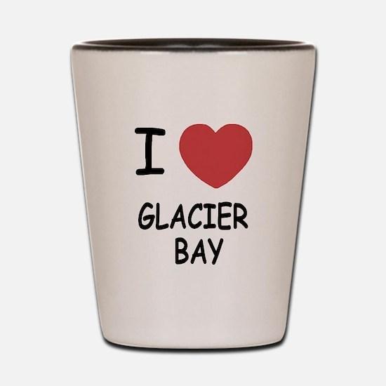 I heart glacier bay Shot Glass