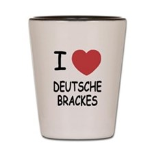 I heart deutsche brackes Shot Glass