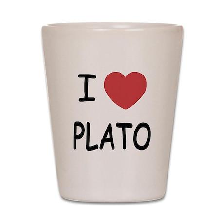 I heart plato Shot Glass