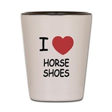 I heart horse shoes Shot Glass