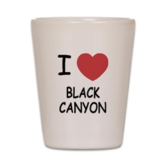I heart black canyon Shot Glass