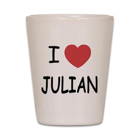 I heart julian Shot Glass