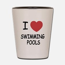 I heart swimming pools Shot Glass