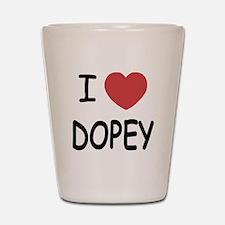 I heart dopey Shot Glass