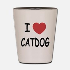 I heart catdog Shot Glass