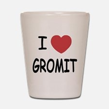 I heart gromit Shot Glass