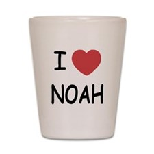 I heart noah Shot Glass