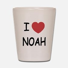 I heart noah Shot Glass