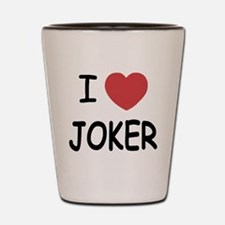 I heart joker Shot Glass