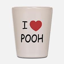 I heart pooh Shot Glass