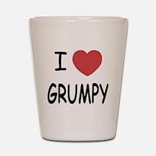 I heart grumpy Shot Glass