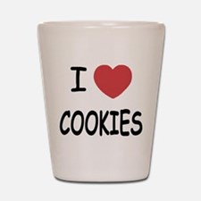I heart cookies Shot Glass