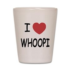 I heart whoopi Shot Glass
