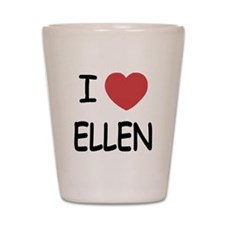 I heart ellen Shot Glass