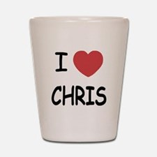 I heart chris Shot Glass