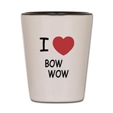 I heart bow wow Shot Glass