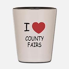 i heart county fairs Shot Glass