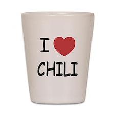 I heart chili Shot Glass