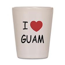 I heart guam Shot Glass