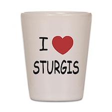 I heart sturgis Shot Glass