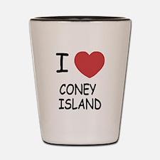 I heart coney island Shot Glass