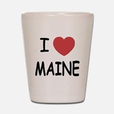 I heart Maine Shot Glass
