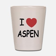 I heart Aspen Shot Glass