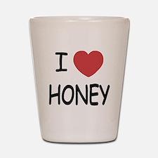I heart honey Shot Glass