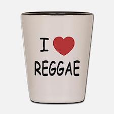 I heart reggae Shot Glass