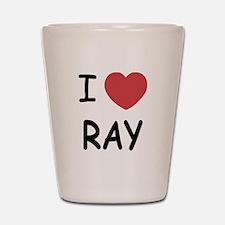 I heart ray Shot Glass
