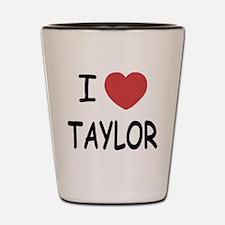 I heart taylor Shot Glass