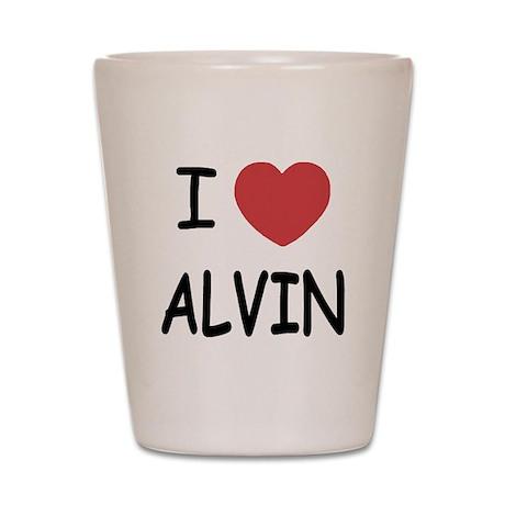 I heart Alvin Shot Glass