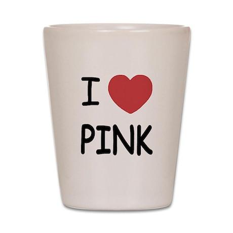 I heart Pink Shot Glass