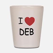 I heart Deb Shot Glass