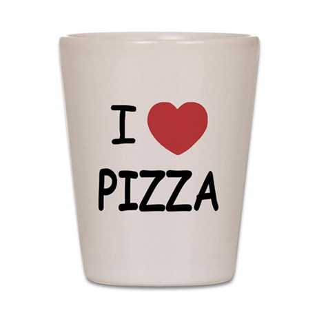 I heart pizza Shot Glass