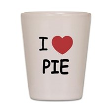 I heart pie Shot Glass