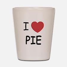 I heart pie Shot Glass