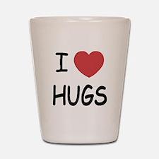 I heart hugs Shot Glass