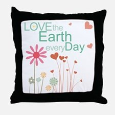 Love the Earth Throw Pillow